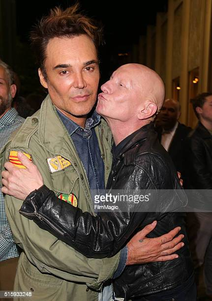 Photographer David LaChapelle and model Robert Sherman attend an after party following the premiere of HBO Documentary Films' 'Mapplethorpe Look At...