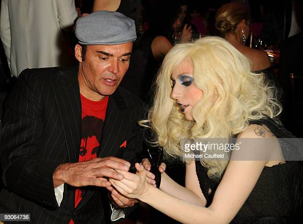 Photographer David LaChapelle and musician Lady GaGa attend the MOCA NEW 30th anniversary gala held at MOCA on November 14 2009 in Los Angeles...