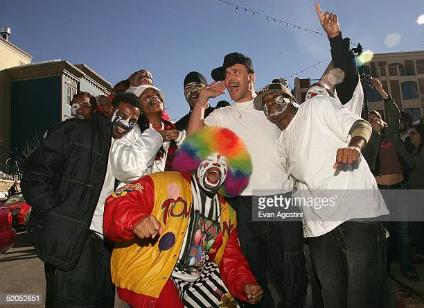 Photographer David LaChapelle and the dancers from the documentary Rize at The Village At The Lift during the 2005 Sundance Film Festival on January...