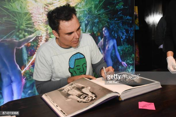 Photographer David Lachapelle attends the 'Lost Found Good News' David Lachapelle Book Signing at Taschen Paris Store on November 14 2017 in Paris...