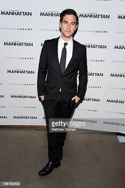 Photographer David Needleman attends the Manhattan Magazine Men's Issue Party at PHD Rooftop Lounge at Dream Downtown on April 9 2013 in New York City