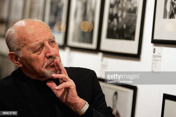 Photographer David Rubinger is seen at Eretz Israel The Birth Of A Nation Private View a collection of prints by Israel's awardwinning Time and Life...