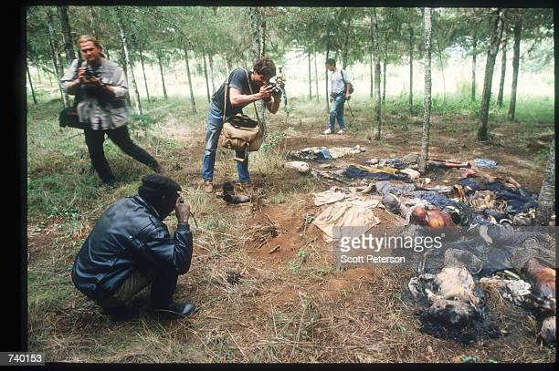 A photographer documents the killing May 5 1994 in Rukumbell Rwanda Hundreds of Tutsis were killed at the Rukara Catholic mission April 1994 in one...