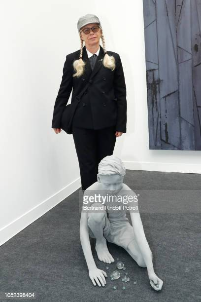 Photographer Dominique Issermann attends the FIAC 2018 International Contemporary Art Fair Press Preview at Grand Palais on October 17 2018 in Paris...