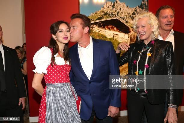 Photographer Ellen von Unwerth and Arnold Schwarzenegger and Charlotte Taschen during the opening night of Ellen von Unwerth's photo exhibition at...