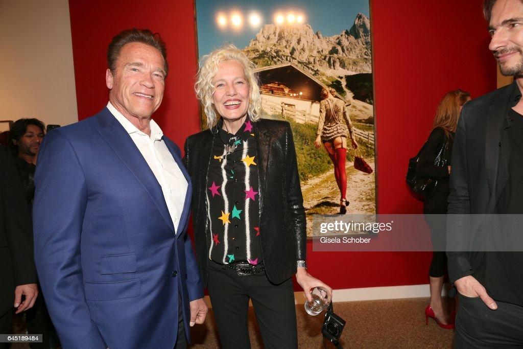 Photographer Ellen von Unwerth and Arnold Schwarzenegger during the opening night of Ellen von Unwerth's photo exhibition at TASCHEN Gallery on February 24, 2017 in Los Angeles, California.