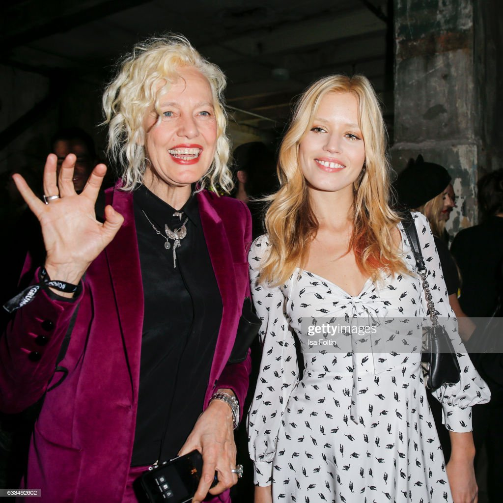 Photographer Ellen von Unwerth and british model Georgia May Jagger attend the Presentation of the new Opel Calender 2017 at Kraftwerk Mitte on February 1, 2017 in Berlin, Germany.