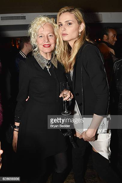 Photographer Ellen von Unwerth and model Andreja Pejic attend the VH1 America's Next Top Model premiere party at Vandal on December 8, 2016 in New...