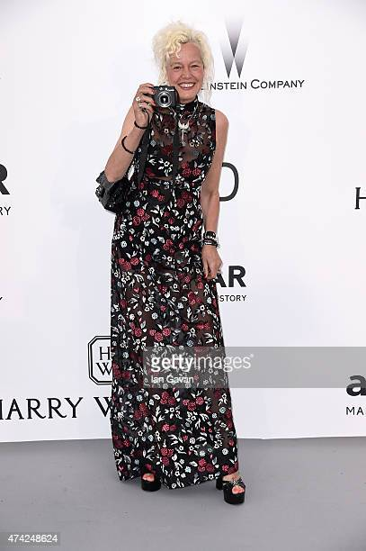 Photographer Ellen von Unwerth attends amfAR's 22nd Cinema Against AIDS Gala Presented By Bold Films And Harry Winston at Hotel du CapEdenRoc on May...