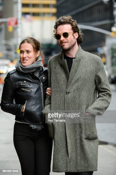 Photographer Emma Elizabeth Tillman and singer Father John Misty enter the 'The Late Show With Stephen Colbert' taping at the Ed Sullivan Theater on...