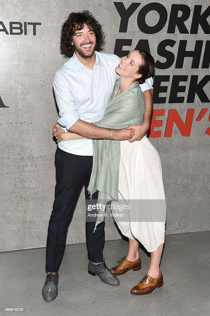Photographer Erik Madigan Heck (L) and Brianna Karen Killion attend the opening event for New York Fashion Week: Men's S/S 2016 at Amazon Imaging Studio on July 13, 2015 in Brooklyn, New York.