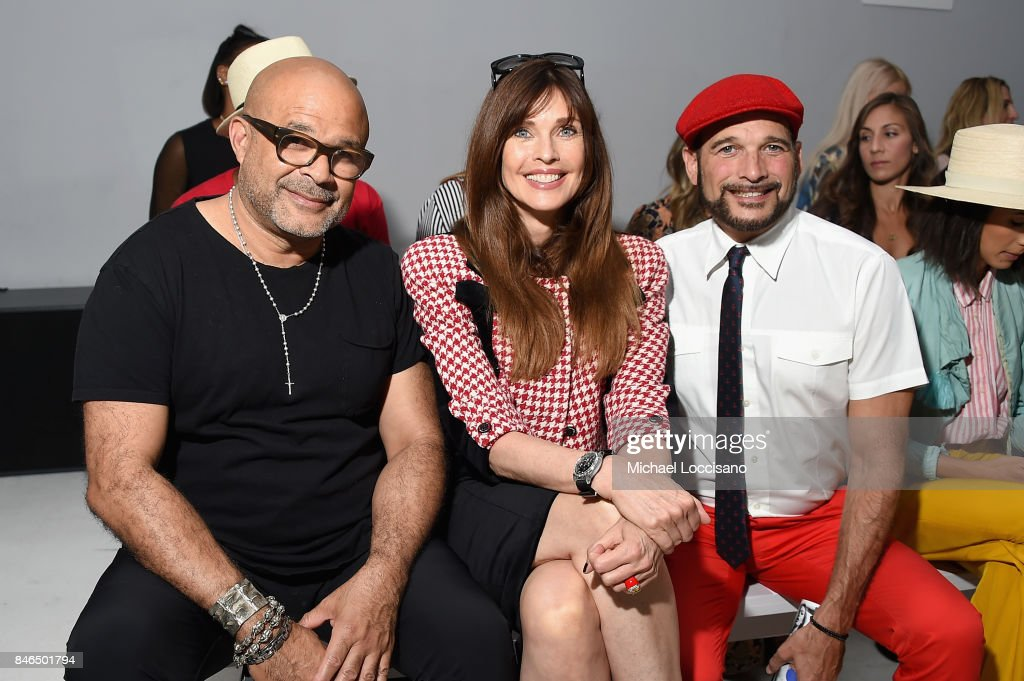 Photographer Ezequiel De La Rosa, model Carol Alt, and designer Phillip Bloch attend the Chocheng fashion show during New York Fashion Week: The Shows at Gallery 3, Skylight Clarkson Sq on September 13, 2017 in New York City.