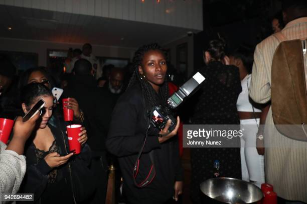 Photographer Flo Ngala attends the Cardi B Silent Listening Party on April 5 2018 in New York City