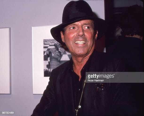 Photographer Francesco Scavullo at Louise Dahl Wolfe's opening in SOHO in 1984 in New York City New York