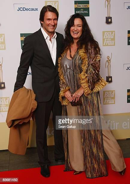 Photographer Gabo and actor Dieter Bach attend the Goldene Bild der Frau 2008 awards at Ullstein Hall on November 13 2008 in Berlin Germany
