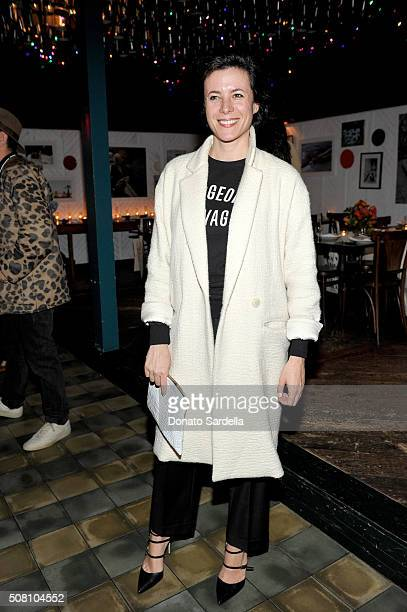 Photographer Garance Doré attends the celebration of a collaboration between Garrett Leight California Optical Clare V at Marvin on February 2 2016...