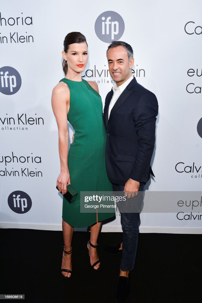 Photographer Hanneli Mustaparta and Francisco Costa, Women's Creative Director of Calvin Klein Collection, attend the The IFP, Calvin Klein Collection & Euphoria Calvin Klein attend a party hosted by Calvin Klein and IFP to celebrate women in film at The 66th Annual Cannes Film Festival at L'Ecrin Plage on May 16, 2013 in Cannes, France.
