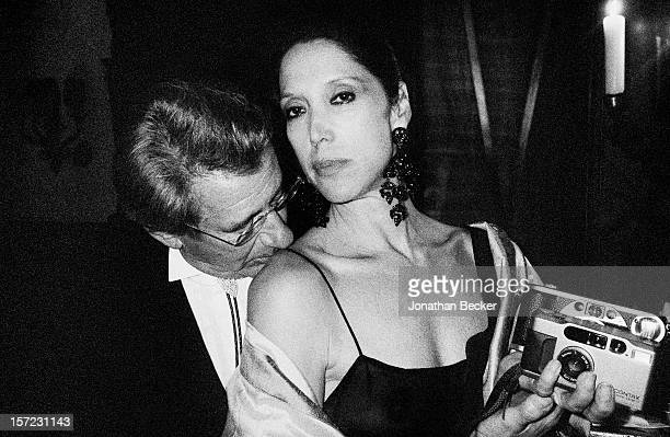 Photographer Helmut Newton and model Marina Schiano are photographed for Vanity Fair Magazine on September 9 1993 at Vanity Fair's 10 Anniversary...