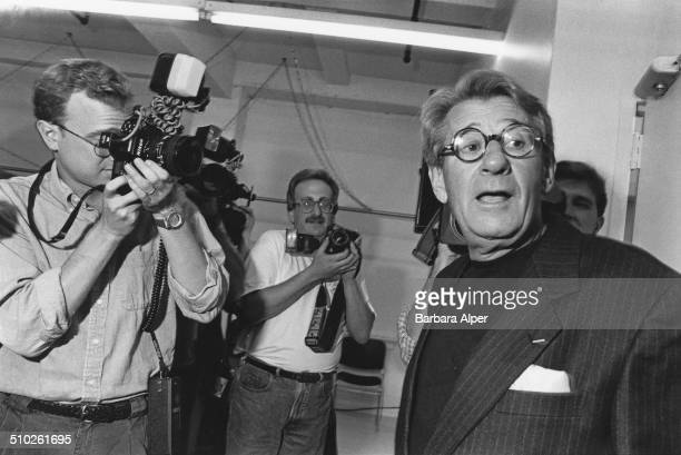 Photographer Helmut Newton at a Vogue press conference in New York City September 1995