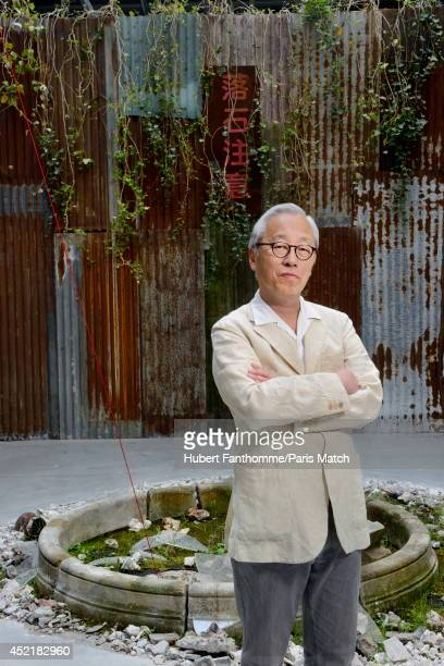 Photographer Hiroshi Sugimoto is photographed for Paris Match on April 23 2014 in Paris France