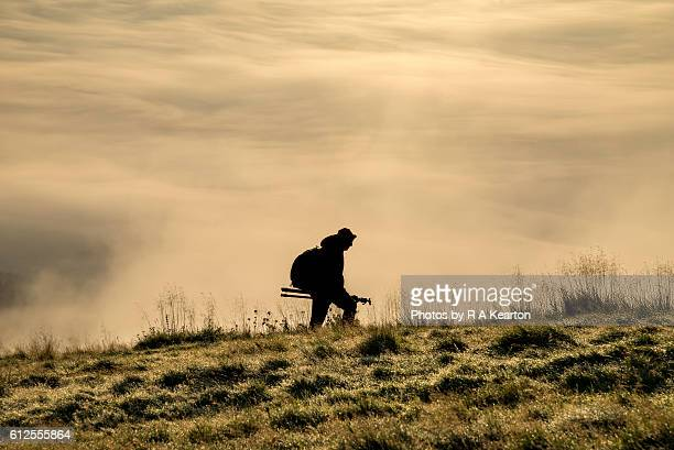 Photographer in the mist