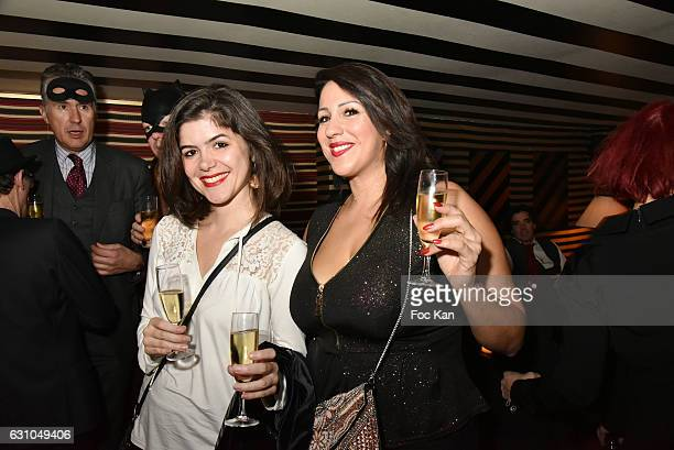 Photographer Izabela Sawicka and Sandra Rouault attend the 'Nuit Bruce Nauman' screening party and performance of Amelie Pironneau at la Galerie du...