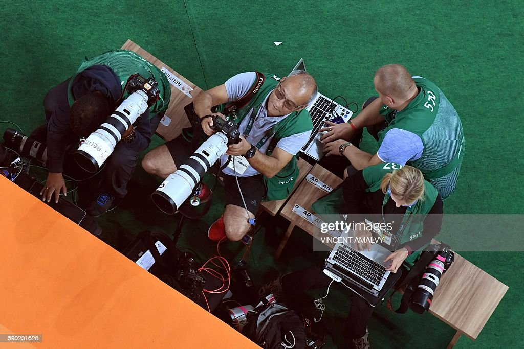 OLY-2016-RIO-MEDIA-PHOTOGRAPHER-AFPONDUTY : News Photo