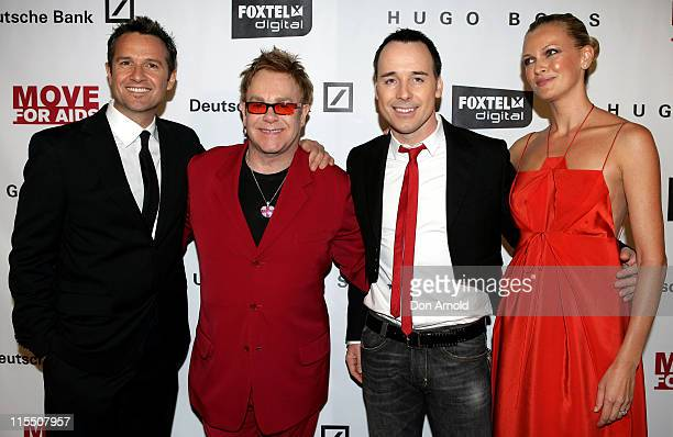 Photographer James Houston Sir Elton John David Furnish and Sarah Murdoch