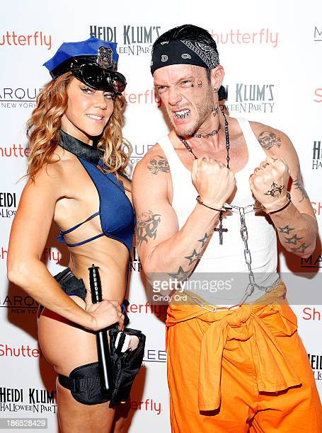 Photographer Jamie McCarthy and Miyoshi Rheberg attend Shutterfly Presents Heidi Klum's 14th Annual Halloween Party sponsored by SVEDKA Vodka and...