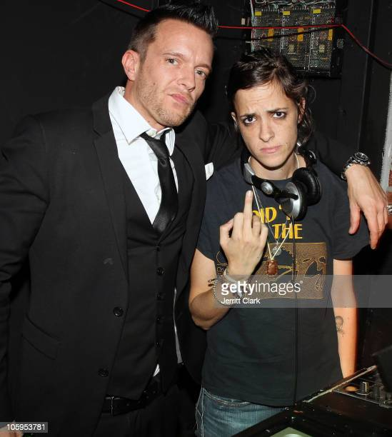 Photographer Jamie McCarthy and Samantha Ronson attend the 1 year anniversary party at Juliet on October 21 2010 in New York City