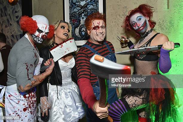 Photographer Jamie McCarthy Jennifer Mazur photographer Kevin Mazur and Megan Thompson attend Heidi Klum's 17th Annual Halloween Party sponsored by...