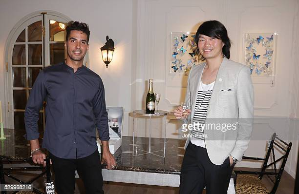 Photographer Javier Gomez and Axel Huynh attend Maison Montaigne Celebrates Flagship Store In Miami's Design District Sponsored By PerrierJouet at...