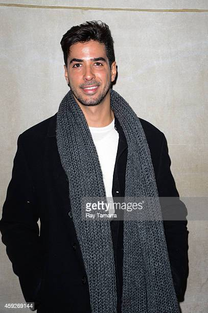 Photographer Javier Gomez enters the 'Today Show' taping at the NBC Rockefeller Center Studios on November 19 2014 in New York City