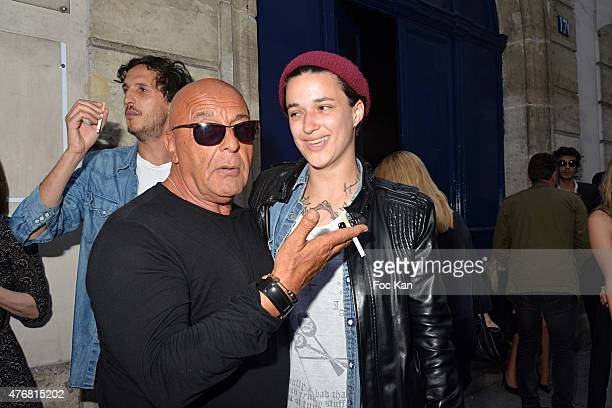Photographer Jean Baptiste Mondino and model Agathe Mougin attend the 'A L'Impossible Je Suis Tenu' Mathieu Cesar Photo Installation At Espace 17 Rue...