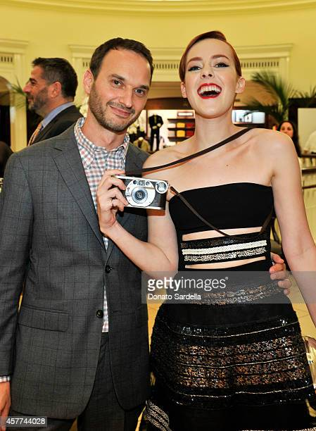 Photographer Jeff Vespa and actress Jena Malone attend Brooks Brothers Hosts The LA Launch For The New Book The Art of Discovery at Brooks Brothers...