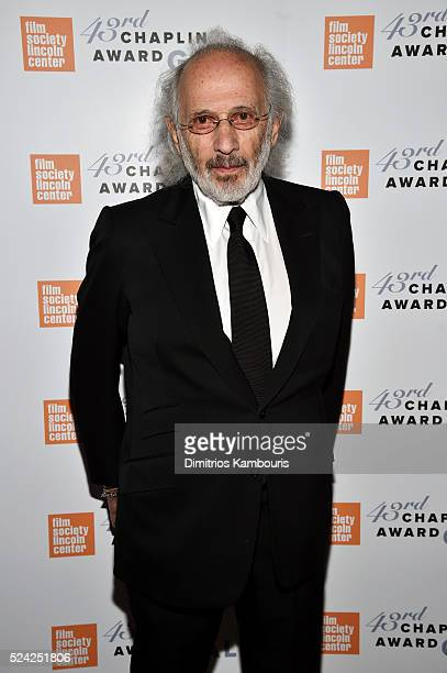 Photographer Jerry Schatzberg poses backstage at the 43rd Chaplin Award Gala on April 25 2016 in New York City