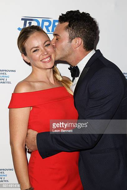 Photographer Jillian Sipkins and Magician Justin Willman attends JDRF LA Chapter's Imagine Gala at The Beverly Hilton Hotel on May 14 2016 in Beverly...