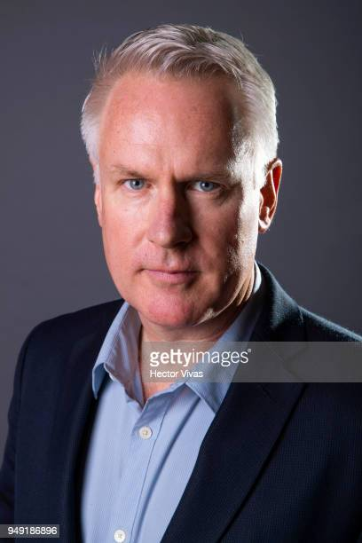 Photographer John Moore pose during the launch event of Undocumented book at WeWork Varsovia Building on April 19 2018 in Mexico City Mexico