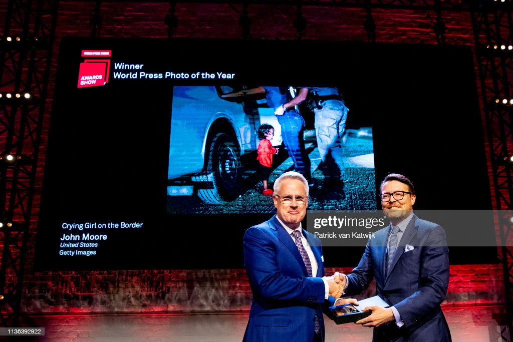 Prince Constantijn and Princess Kaurentien at Award Ceremony World Press Photo in Amsterdam : News Photo
