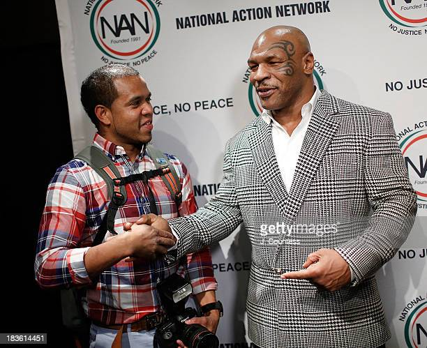 Photographer Johnny Nunez and Former Boxing champion Mike Tyson attend the 4th Annual Triumph Awards at Rose Theater Jazz at Lincoln Center on...