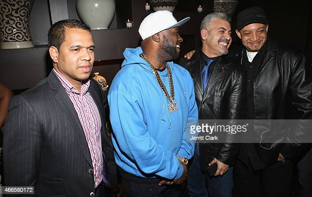 Photographer Johnny Nunez Funkmaster Flex photographer Joe Conzo Jr and Red Alert attend the Inspired In Music Event Honoring Johnny Nunez Ralph...