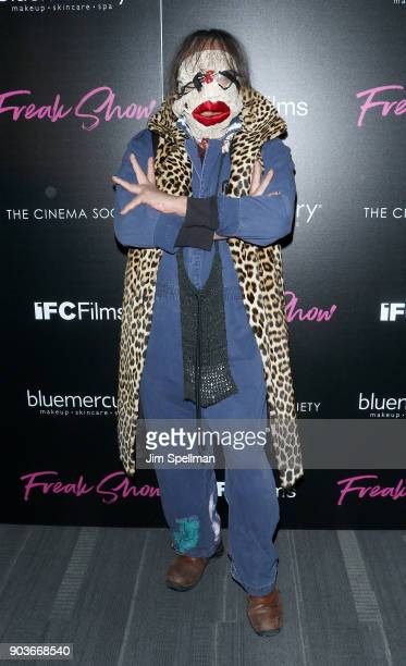Photographer Johnny Rozsa attends the premiere of IFC Films' 'Freak Show' hosted by The Cinema Society and Bluemercury at Landmark Sunshine Cinema on...