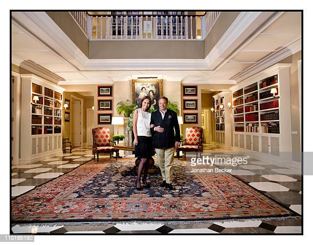 Photographer Jonathan Becker and Isabel Preysler photographed at her home for Vanity Fair Spain on October 13 2010 in Madrid Spain Published images