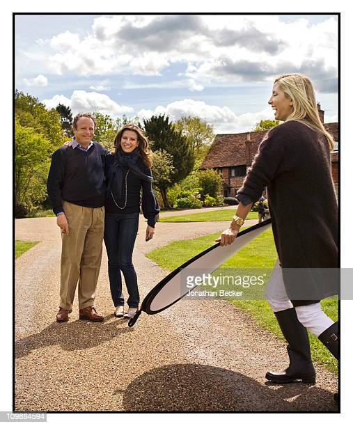 Photographer Jonathan Becker and Princess Marie-Chantal are photographed at her home 'Beale House' for Vanity Fair - Spain on May 2-3, 009 in West...