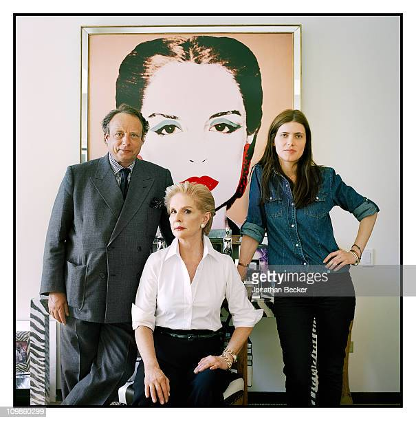 Photographer Jonathan Becker, fashion designer Carolina Herrera and Leticia Echavarri are photographed at her atelier for Vogue Espana on May 5, 2010...
