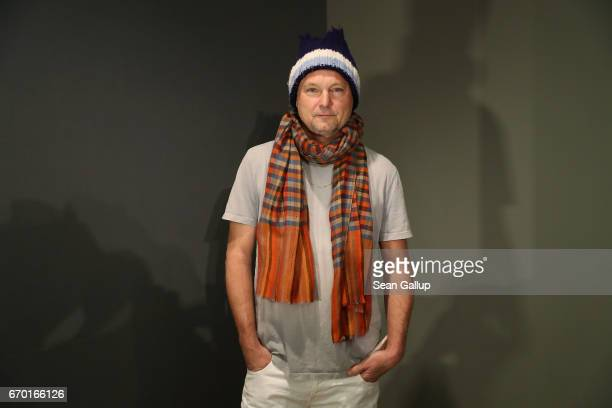 Photographer Juergen Teller poses for a photo prior to the press conference for his exhibition Juergen Teller Enjoy Your Life at Martin Gropius Bau...