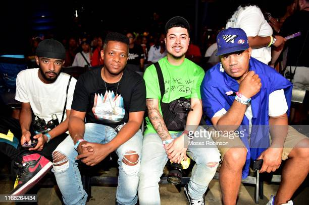Photographer Kaito Diddy guest photographer Ivan Beriios and Roc Nations Lenny Santiago attend day 3 of REVOLT Summit x ATT Summit on September 14...