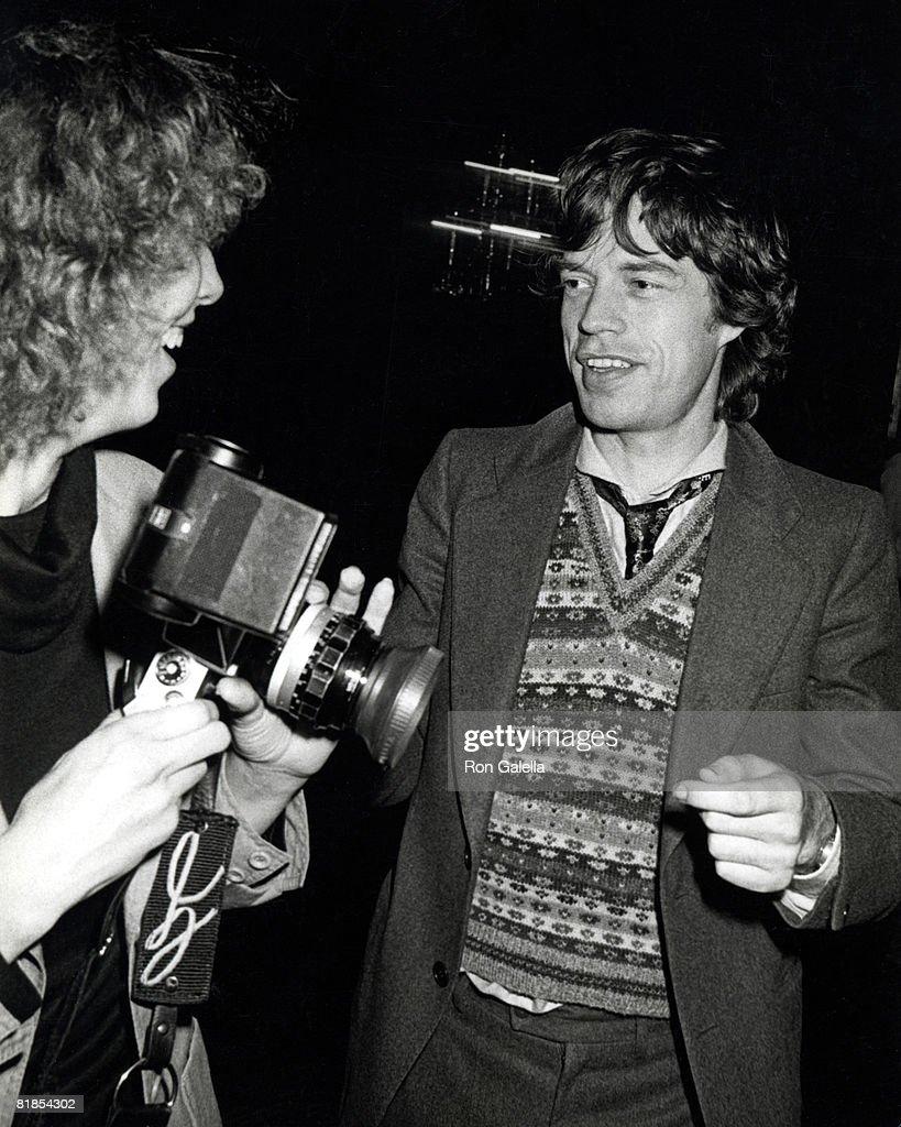 Photographer Kathy Savage and Mick Jagger