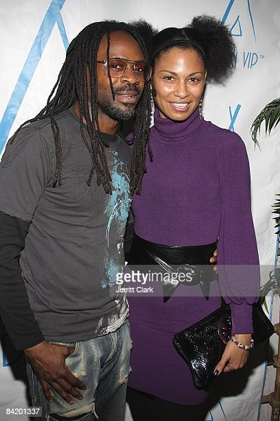 Photographer Keith Majors and Mo Sprigs attends the premiere of True Beauty at Nikki Beach Midtown on January 5 2009 in New York City
