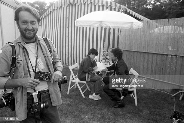 Photographer Ken Regan is photographed as singer Bob Dylan is being interview on July 1 1984 in Paris France CREDIT MUST READ Ken Regan/Camera 5 via...